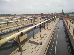 A sewage treatment facility in Hyderabad, India